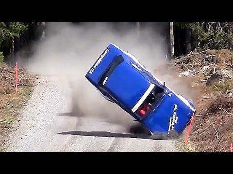 รวมคลิปอุบัติเหตุการแข่งรถยนต์แรลลี่โหดมันส์ ep.2