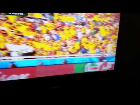 Reaccion de gol de colombia vs. Grecia