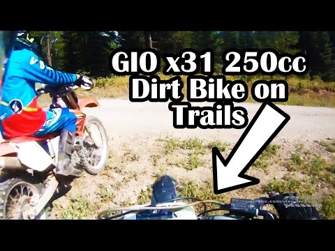 GIO x31 250cc Dirt Bike Trail Ride
