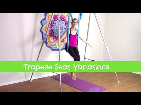 Aerial Yoga Gear ♥ Pose Tutorial: High Trapeze Seat and Supported Shoulder Stand