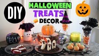 Diy Halloween Snacks & Decor! Quick & Easy Party Treats