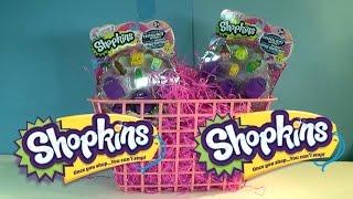 Two Shopkins 6 Packs Shopkins Season 2 Unboxing Poppy Corn Carrie Carrot Cake Slick Breadstick