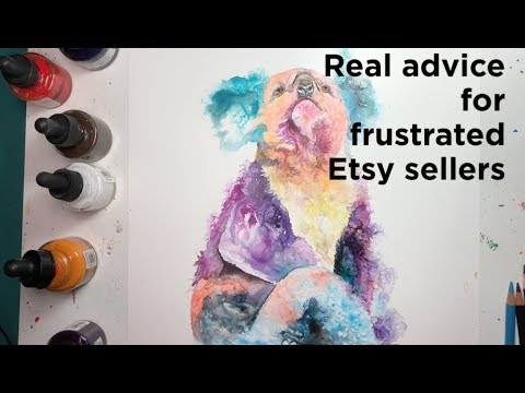 REAL advice for frustrated Etsy sellers: Painting Vlog