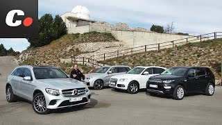 Mercedes-Benz GLC, BMW X3, Land Rover Discovery Sport, Audi Q5 | Prueba SUV | Test / Review
