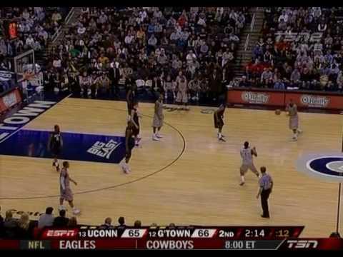 Connecticut v. Georgetown - 2010 Jan. 9 - Last 6 Minutes