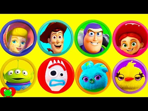 Best Learn Colors Video Toy Story 4 Play Doh Surprises And Make Your Own Forky