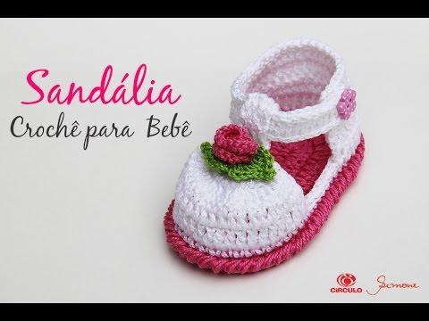 Sandália de Crochê para bebê - Simone Eleotério. Professora Simone Eleotério 5b378d2eec0