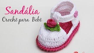Sandália de Crochê para bebê – Simone Eleotério