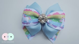 Laço De Fita 🎀 Ribbon Bow Tutorial #47 🎀 DIY by Elysia Handmade