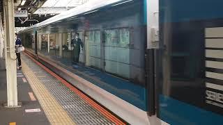 E257系2000番台NA-07編成小田原駅発車