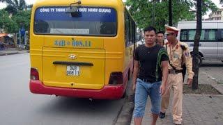 clip xe buyt nhai long hanh thach do csgt