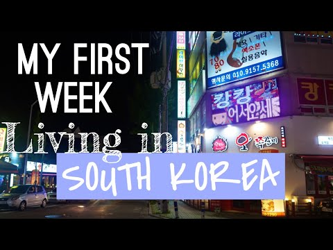 My First Week living in Ulsan, Korea (What I ate) | Korea Vlog