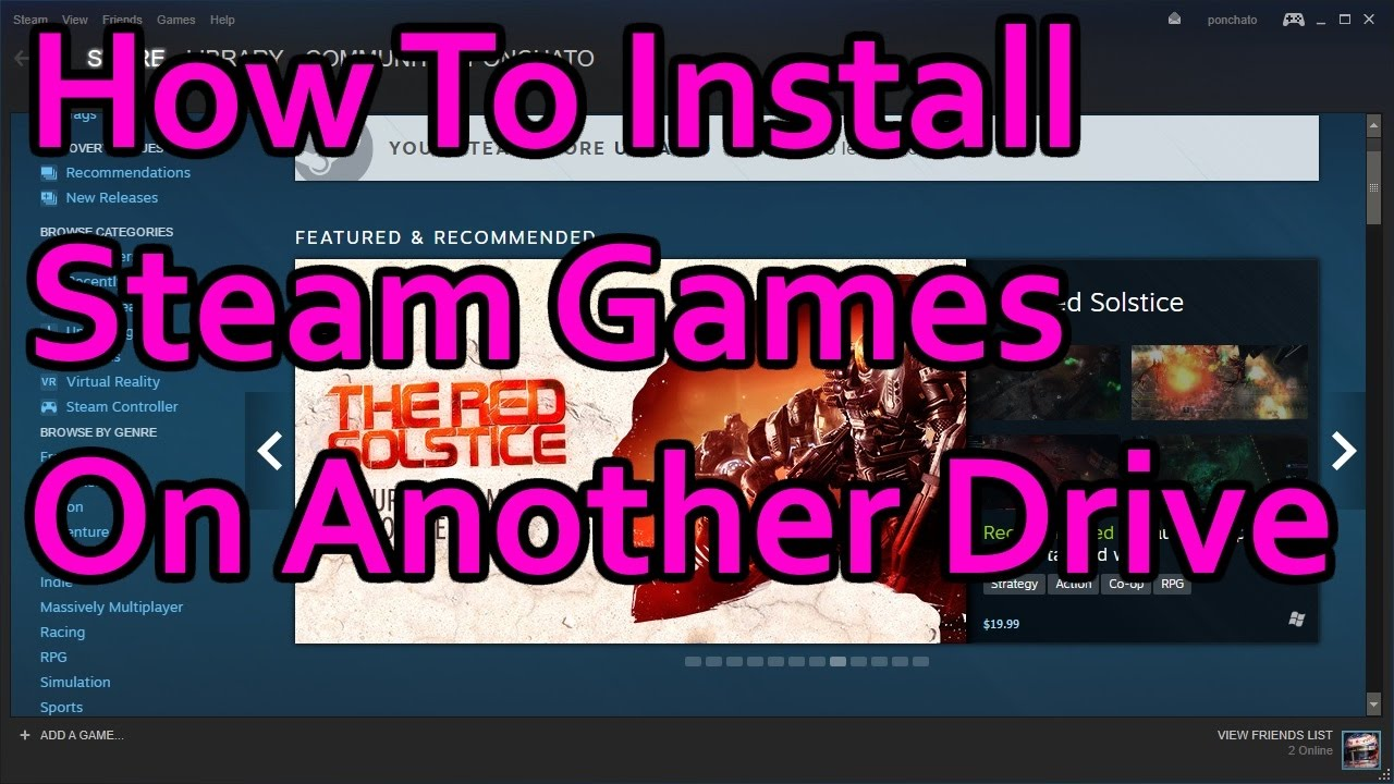 Install Steam on an external drive? - Arqade