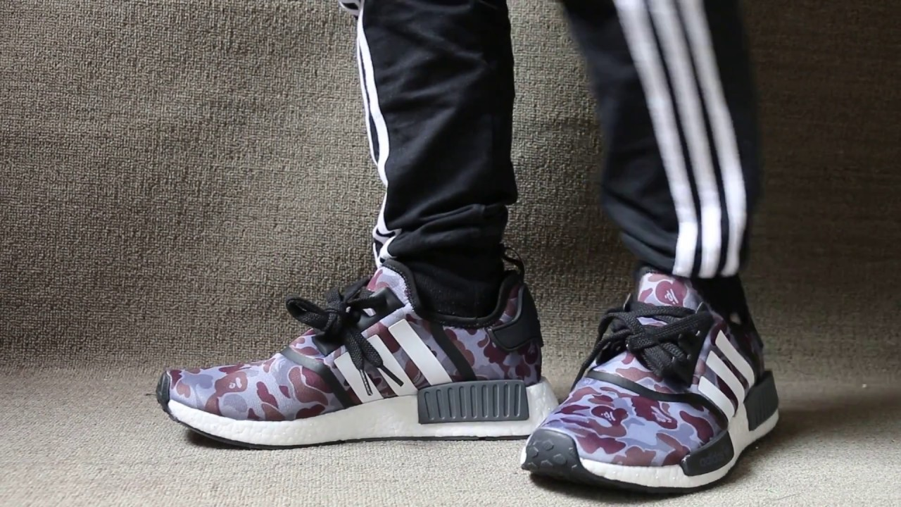 8addd08f8 BAPE x adidas NMD Black On Foot Review - YouTube