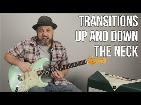 Blues Rock Lead Guitar Solo Lesson - Transitions Between Pentatonic Shapes