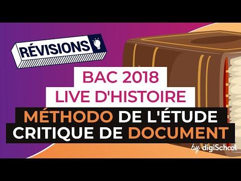 Bac 2018 - Révisions LIVE d'Histoire Géo : Méthodo de l'étude critique de document