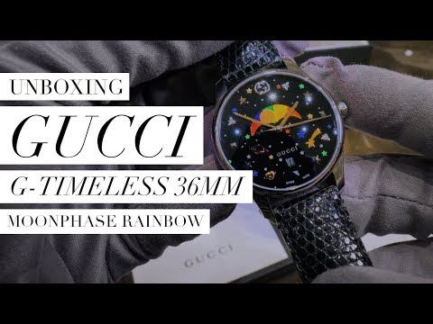 Gucci G-Timeless 36mm Moonphase Rainbow UNBOXING: Design, Movement, Feel