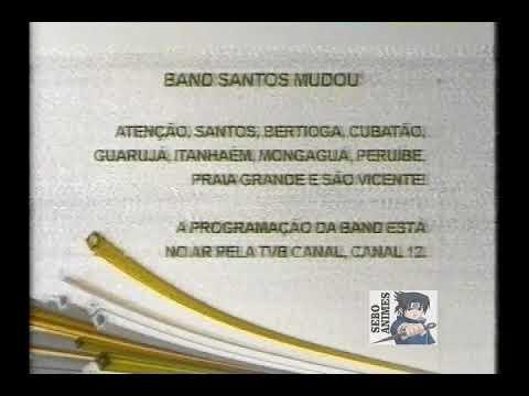 Transição TVB Band Litoral - Cartela Canal 10 VHF