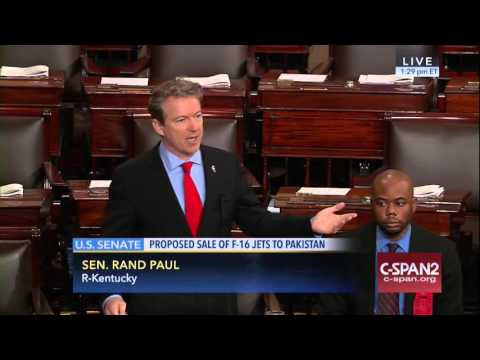 Sen. Rand Paul's Forces Senate Vote to Halt U.S. arms sales Pakistan - March 10, 2016