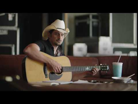 Brad Paisley works on lyrics to the Nationwide Jingle