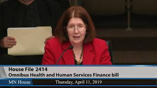 Omnibus Health and Human Services Finance bill is heard  4/11/19