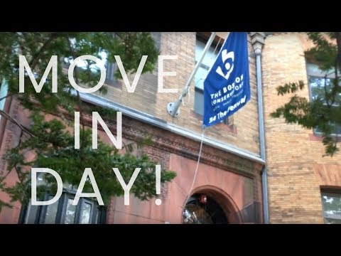Boston Conservatory FRESHMEN MOVE IN DAY