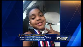 8-year-old girl dies after taking dare to drink boiling water