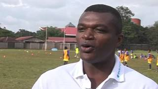 Premier League Trophy Tour in Nairobi, Kenya with Marcel Desailly