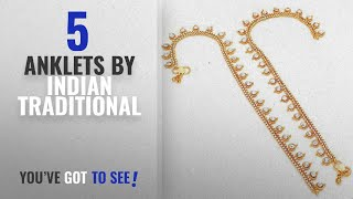Top 10 Indian Traditional Anklets [2018]: Jewar Mandi Anklet Payal Indian Traditional Cz Ad Handmade