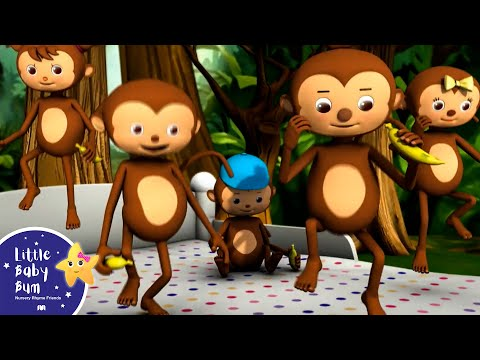 Thumbnail: Five Little Monkeys Jumping On The Bed | Part 1 | In HD from LittleBabyBum