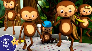 Five Little Monkeys Jumping On The Bed | Part 1 | In HD from LittleBabyBum
