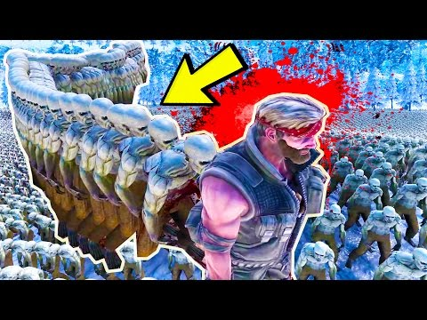CHUCK NORRIS DIES TO FLYING ZOMBIE CENTIPEDE + HUGE AVALANCHE - UEBS Ultimate Epic Battle Simulator