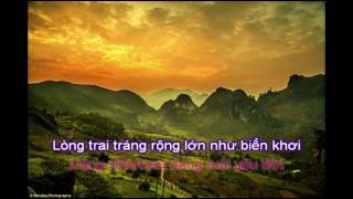 KARAOKE Viet Nam Que Huong Toi Phong cach Thanh Thuy