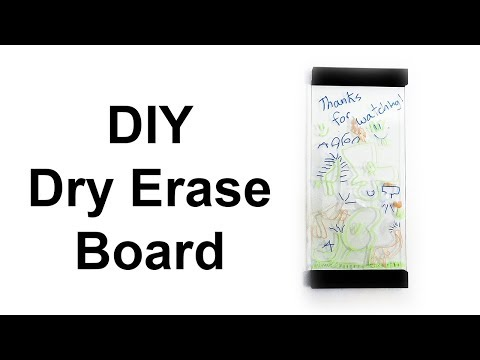 DIY Glass Whiteboard   Making A Modern Style Dry Erase Board Using Up-cycled Glass And Pallet Wood