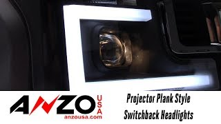 In the Garage™ with Performance Corner®: AnzoUSA Projector Plank Style Switchback Headlights