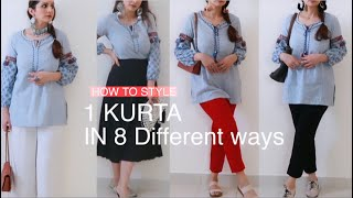 How to Style 1 KUŔTA in 8 Different Ways || By MONIKA