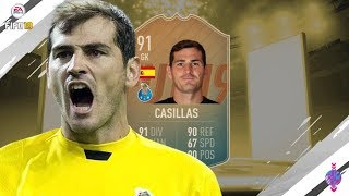 FIFA 19 | (91) FLASHBACK CASILLAS PLAYER REVIEW!! | FLASHBACK PLAYER REVIEW!! | FUT19
