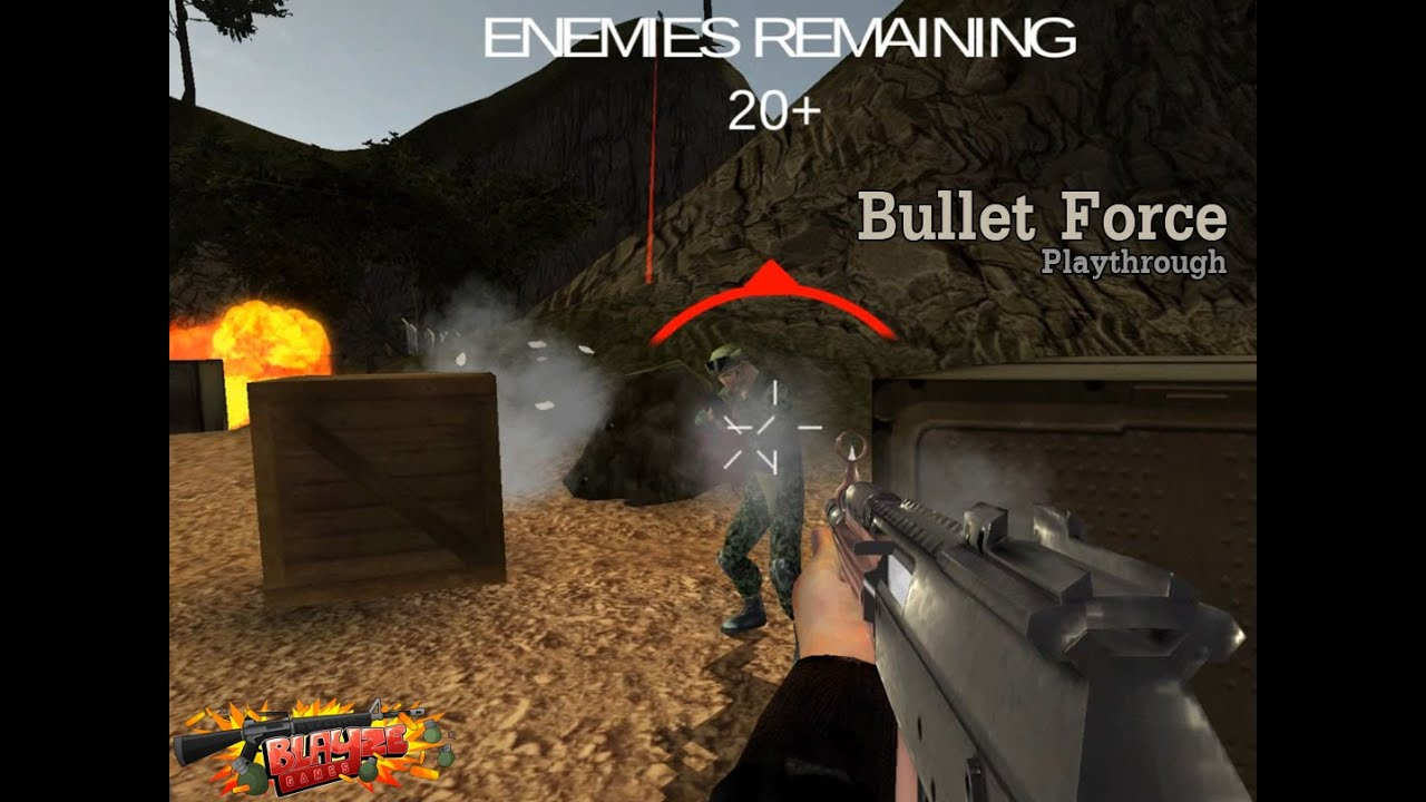 Bullet Force - webGL game - YouTube