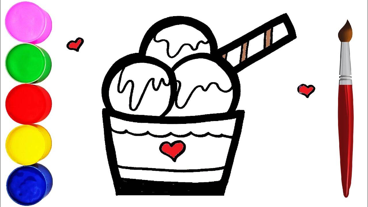 Wie Zeichnet Man Eis für Kinder Malen Einfach - YouTube