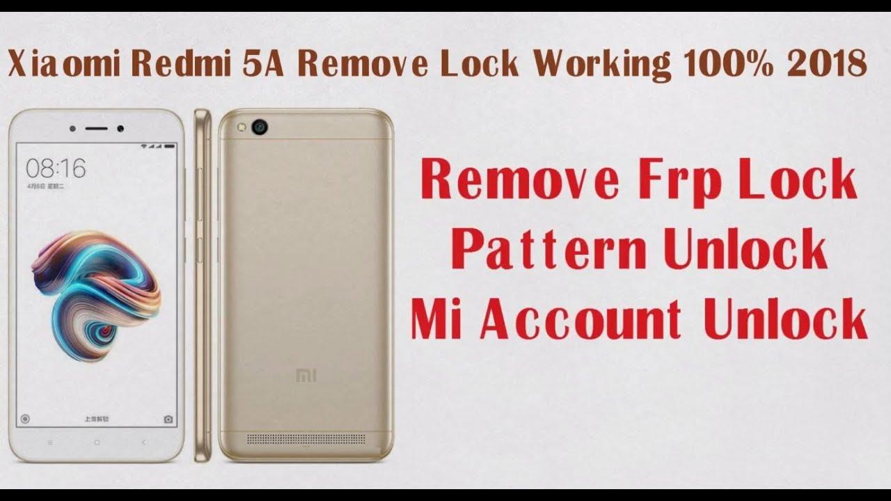 Redmi 5A Mi Account Remove permanently (Nougat 7 1/7 0) ||Miui 9 2