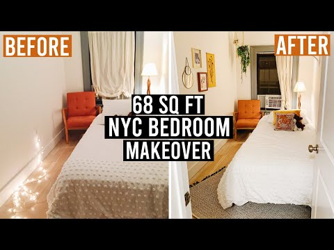 68 Sq Ft NYC Bedroom Makeover: Easy + Cheap DIY Decor Ideas