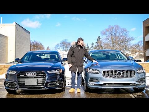 Luxury Sedan Fight!   '17 Audi A6 vs Volvo S90 T6 AWD