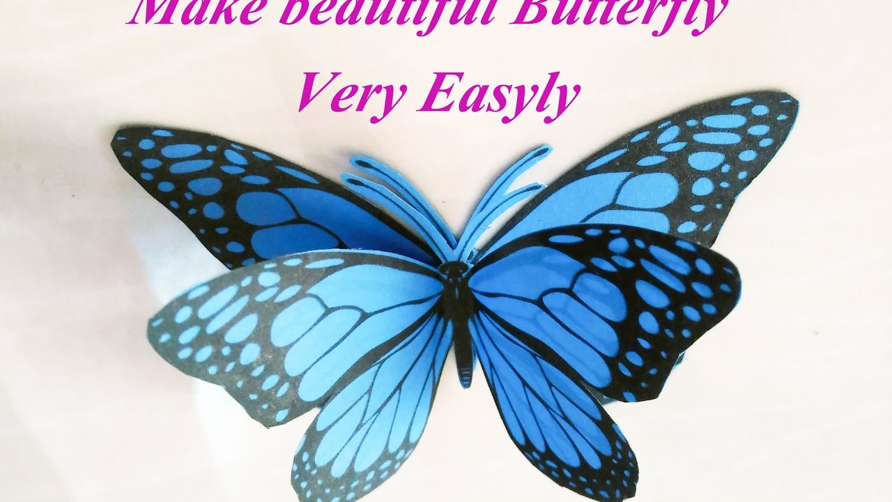 how to 3d butterfly paper