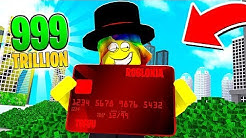 I did a $999,999,999 Shopping Spree with a ROBLOX CREDIT CARD..