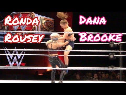 WWE Ronda Rousey VS. Dana Brooke LIVE @ The Resch Center In Green Bay, WI