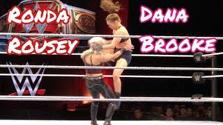 WWE Ronda Rousey VS. Dana Brooke LIVE @ The Resch Center in Green Bay, WI