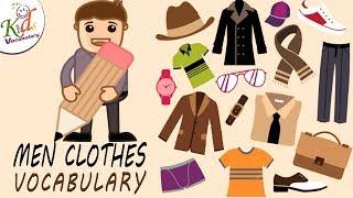 Vocabulary Practice | clothes Name | English Men's Clothing Vocabulary | kids Vocabulary