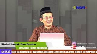 Fikih Kontroversi Shalat Jama' Dan Qoshar -- Masjid Daarul ihsan Bandung