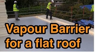 Vapour Barrier For A Flat Roof