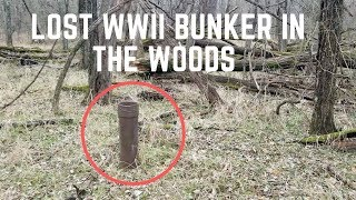I Found A WWII Bunker Hidden In The Woods For over 80 Years! Lets Go Inside!